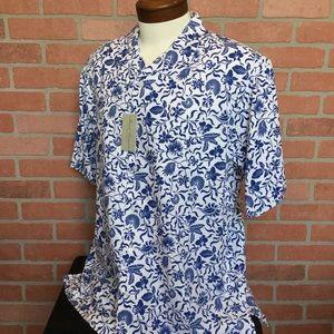 Cremieux NWT Hawaiian Button Up Shirt L (4Z17-19)